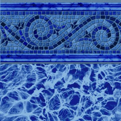 Siesta Wave Blue 20 Gauge Inground Pool Liner