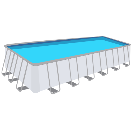 Seabreeze Rectangle Beaded Above Ground Pool Liner