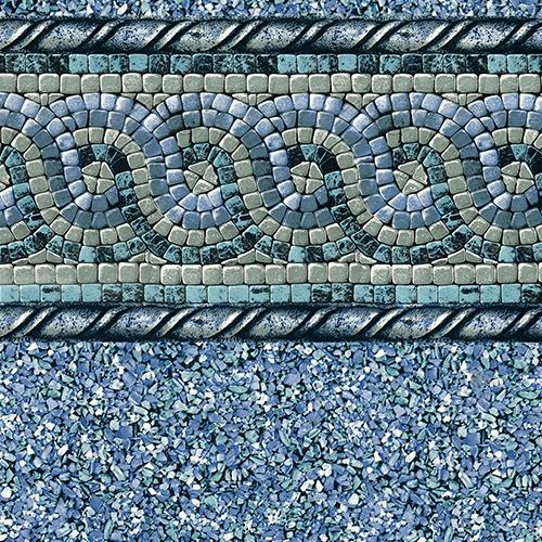 18 X36 Blue Mosaic 20 Gauge Inground Pool Liner