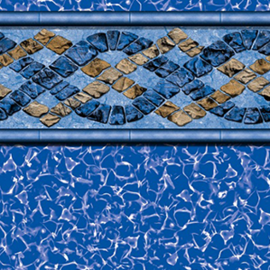 Augusta Oval Beaded Above Ground Pool Liner