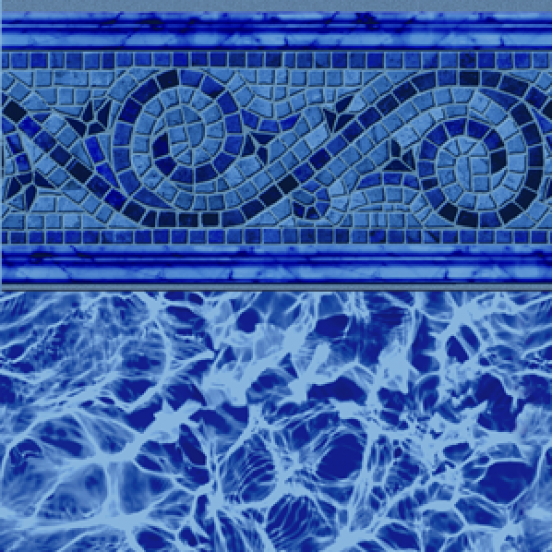 Siesta Wave Blue 30 Gauge Inground Pool Liner